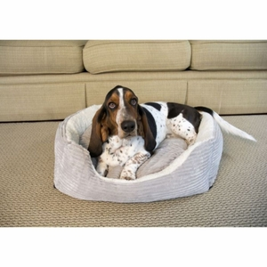 Iconic Pet - Luxury Lounge Pet Bed - Light Gray - Small