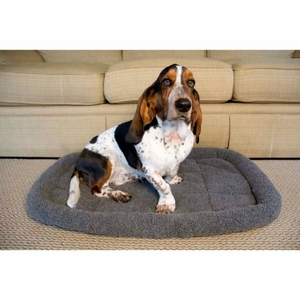 Iconic Pet - Premium Synthetic Sheepskin Handy Bed - Grey - XXXlarge