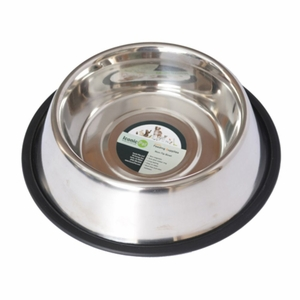 Iconic Pet - Stainless Steel Non-Skid Pet Bowl for Dog or Cat - 16 oz - 2 cup
