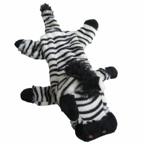 Iconic Pet - Zebra Bottle Fill Wild Animal Dog Toy - 15 Inch