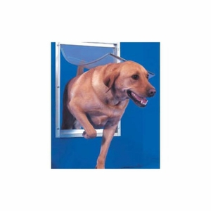 Ideal Deluxe Dog Door Extra Large White 10.5x 15 Inch