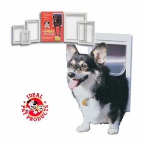 Ideal Original Pet Door Large White 10.5x 15 Inch