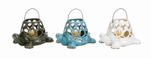 Durable and Long Lasting Ceramic Turtle Lantern 3 Assortment - 38871 by Benzara