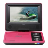 IMPECCA 7in PORTABLE DVD PLAYER - PINK