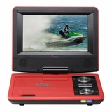 IMPECCA 7in PORTABLE DVD PLAYER - RED