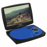 IMPECCA 9in PORTABLE DVD PLAYER - BLUE