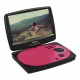 IMPECCA 9in PORTABLE DVD PLAYER - PINK