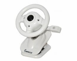 Impecca WC100W Steering Wheel Webcam with Built-in Mic White