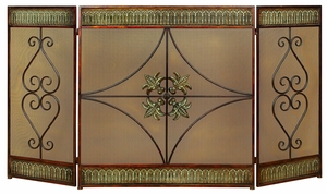 METAL FIRE SCREEN 32 INCHES HIGH ATTRACTS EVERYONE - 48126 by Benzara