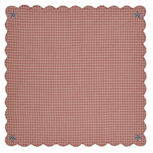 Independence Scalloped Table Cloth 60x60 - 24997 by VHC Brands