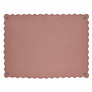Independence Scalloped Table Cloth 60x80 - 24998 by VHC Brands