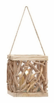 High Quality Wooden Lantern for Indoor and Outdoor Use - 76300 by Benzara