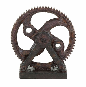Industrial Style Rusted GearDecor - 55620 by Benzara