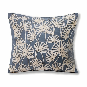INES Contemporary Pillow Cotton , Blue, Set Of 6