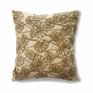 INES Contemporary Pillow Cotton, Tan, Set of 6
