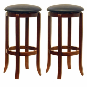 """Innovative & Comfortable Pair of 30"""" Swivel Stools by Winsome Woods"""