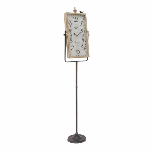 Buy innovative metal wood floor clock at wildorchidquilts