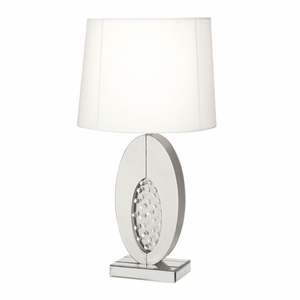 Innovative Mirror Crystal Table Lamp - 87376 by Benzara
