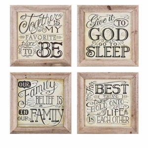 Inspired Wall Decor - Assortment Of 4  - Brown - Benzara