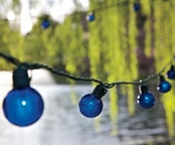 Iridescent 25 Ft. Party Light Strings with Cobalt Blue Bulb by TAIB