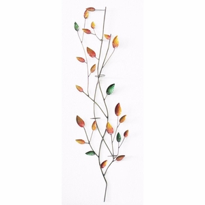 Iron Leaves Wall Decor with Votive Holder New Colour by D Art Collection