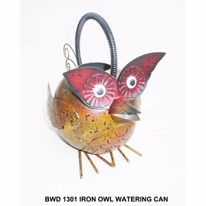 Iron Owl Watering Can by D Art Collection