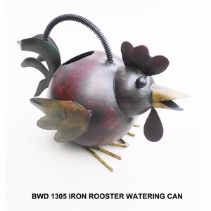 Iron Rooster Watering Can by D Art Collection