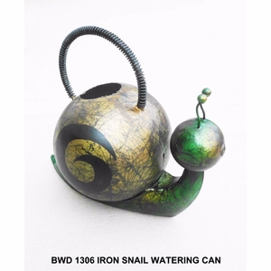 Iron Snail Watering Can by D Art Collection