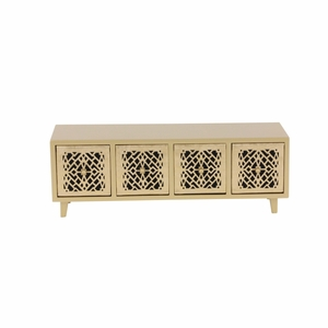 Isabella Wood Gold Color Jewelry Chest - 82182 by Benzara