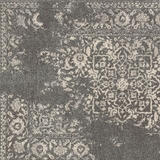 Jabbah Contemporary Rug , Charcoal Ivory