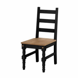 Jay 2- Piece Solid Wood Dining Chair in Black Wash