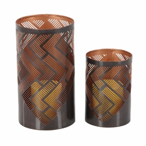 Jenna Unique Candle Holder, Set Of 2 - 57360 by Benzara