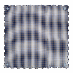 Jenson Scalloped Table Cloth 60x60 - 25585 by VHC Brands
