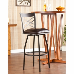 Jericho Adjustable Counter/Bar Stool by Southern Enterprises