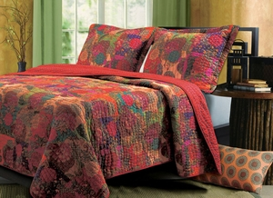 Jewel Quilt Unique Styled Ravishing King Set by Greenland Home Fashions