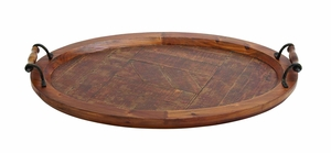 Jingr?n (Amazing) Wood Metal Tray - 93955 by Benzara