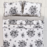 Josephine Black Twin Quilt 86x68 - 26067 by VHC Brands