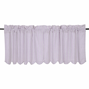 Josephine Orchid Scalloped Tier Set of 2 24x36 - VHC Brands 26128