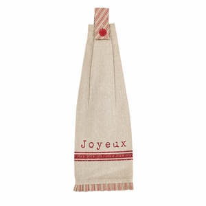 Joyeux Button Loop Kitchen Towel Set of 2 - 26605 by VHC Brands