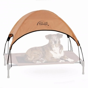 "K&H Pet Cot Canopy Small Tan 17"" x 22"""