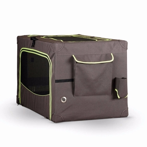 K&H Pet Products Classy Go Soft Pet Crate Large Brown/Lime Green