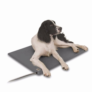 "K&H Pet Products Deluxe Lectro-Kennel Medium Gray 16.5"" x 22.5"" x 0.5"""