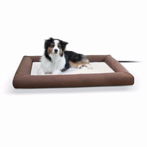 K&H Pet Products Deluxe Lectro-Soft Outdoor Heated Pet Bed Large Brown