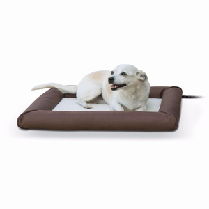 K&H Pet Products Deluxe Lectro-Soft Outdoor Heated Pet Bed Small Brown