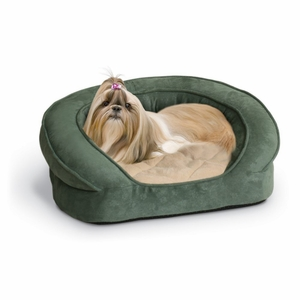 K&H Pet Products Deluxe Ortho Bolster Sleeper Pet Bed Medium Green 30x 25x 9 Inch