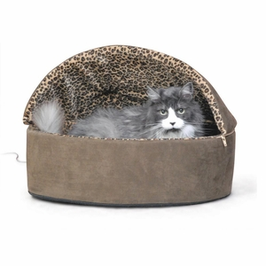 K&H Pet Products KH3198 Thermo-Kitty Bed Deluxe Hooded