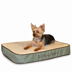 """K&H Pet Products Memory Sleeper Pet Bed Small Sage 18"""" x 26"""" x 3.75"""""""
