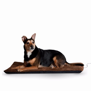 """K&H Pet Products Ortho Thermo Pet Bed Extra Large Chocolate / Coral 33"""" x 43"""" x 3"""""""