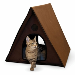 K&H Pet Products Outdoor Multiple Kitty A-Frame Unheated