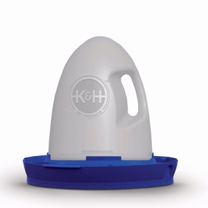 """K&H Pet Products Poultry Waterer Unheated 2.5 gallon Blue 16"""" x 16"""" x 15"""""""